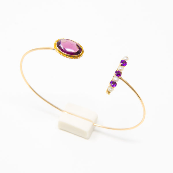 Amethyst Wire Bangle