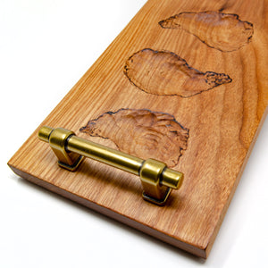 Half-Dozen Oyster Server Board, Canary Wood