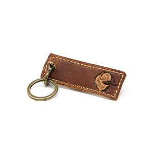 Cotton Leather Keychain, Handcrafted