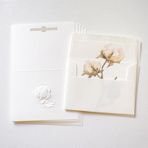 Deep Embossed Cotton Stationery Set of 5