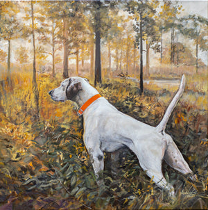 "Golden Hour Hunt, 30x30"" Oil, Original"