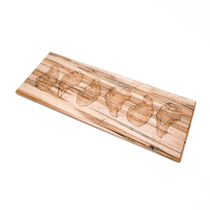 Half-Dozen Oyster Server Board, Ambrosia Maple