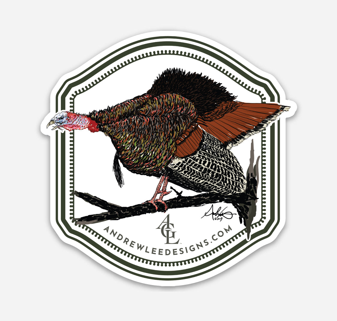 Thundering Gobbler Decal, 3x3""