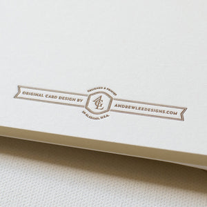 PRE-ORDER, LETTERPRESS BOBWHITE QUAIL STATIONERY SET OF 5