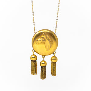 Horse Medallion Necklace