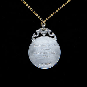 Silver Medal on Gold filled chain necklace