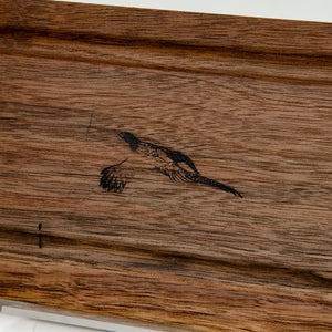 Black Walnut Cutting Server Board, Pheasant Detail
