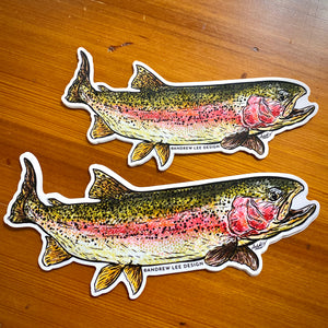 "Rainbow Trout Decal, 6.5"" or 8"""