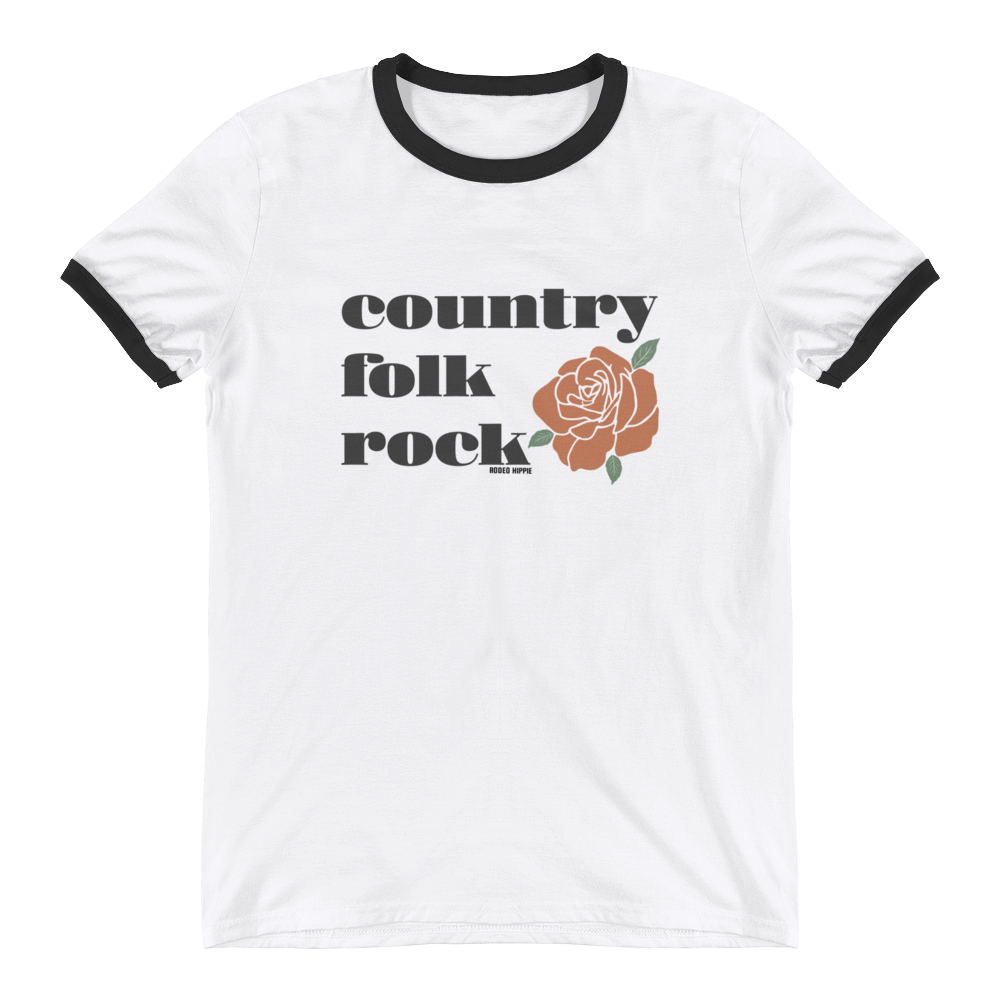 Country Folk Rock Ringer Tee