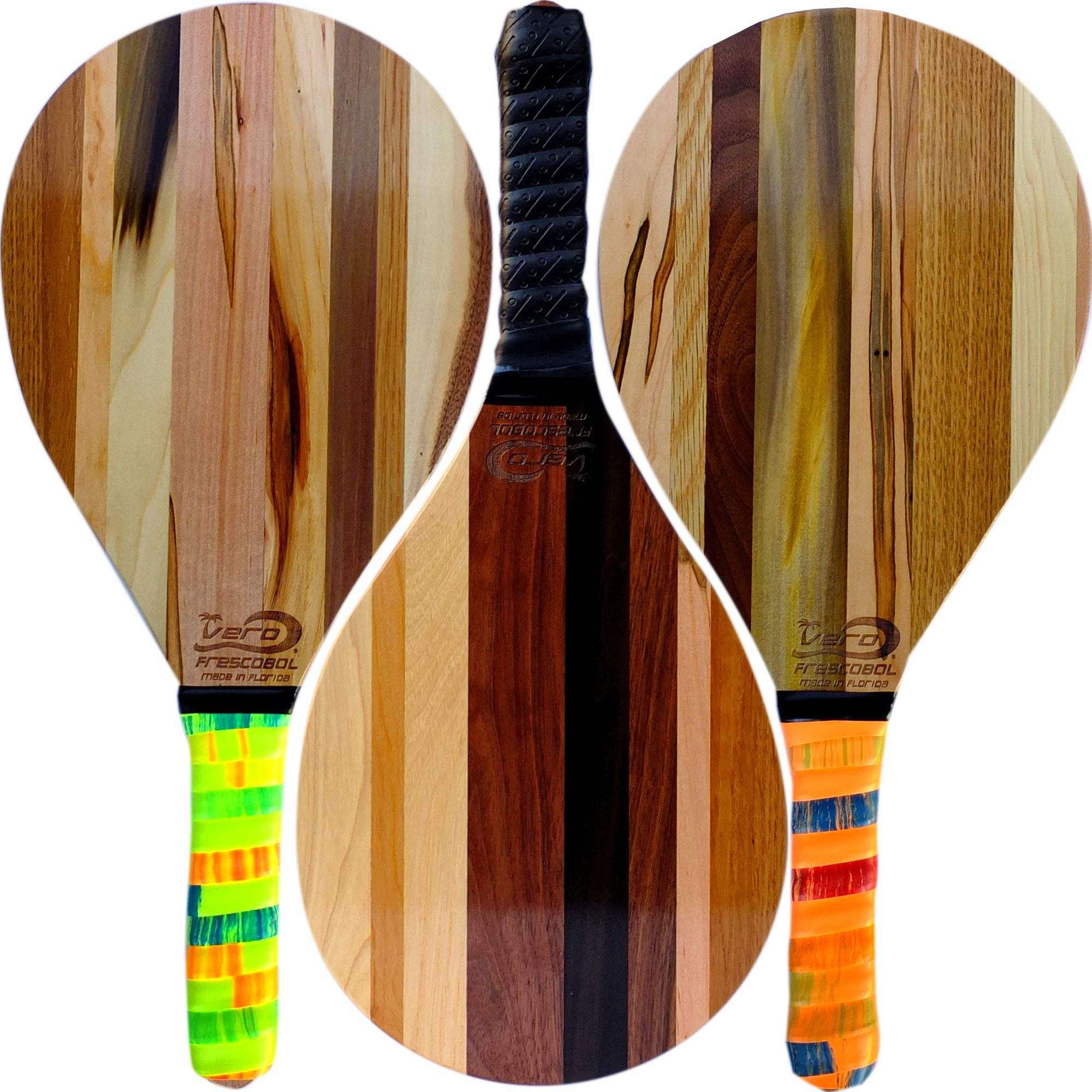 New Solid Wood Frescobol Rackets