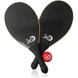 Pro black carbon fiber raquetes for intermediate advance players. Freskoball players play with carbon fiber paddles. Waterproof beach tennis rackets.