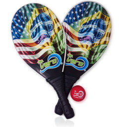 Frescoball injected molded fiberglass with air pocket for optimum balance and playability. Advance frescobol raquetes for all levels. Waterproof beach tennis paddles made in Brazil and USA. Play your best, play with Vero.