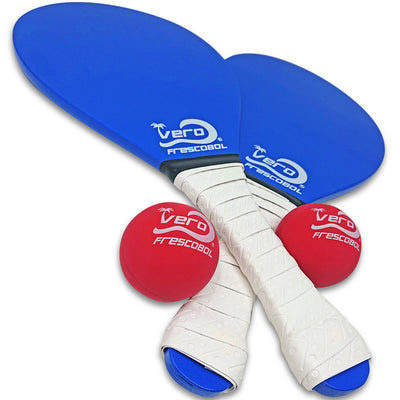 Ocean Blue Birch Wood Frescobol Beach Paddle Game Kit