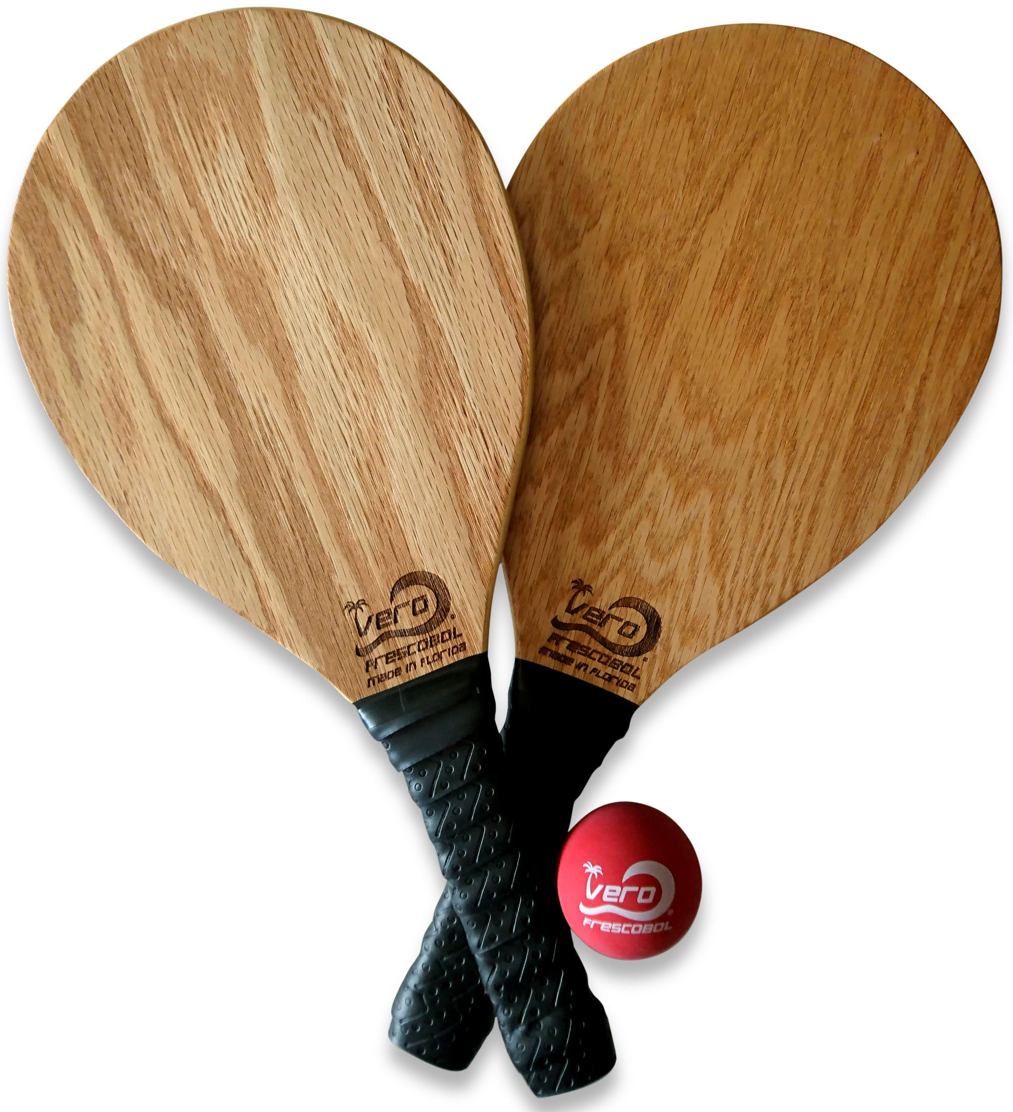 Oak Wood Frescobol Beach Paddle Kit