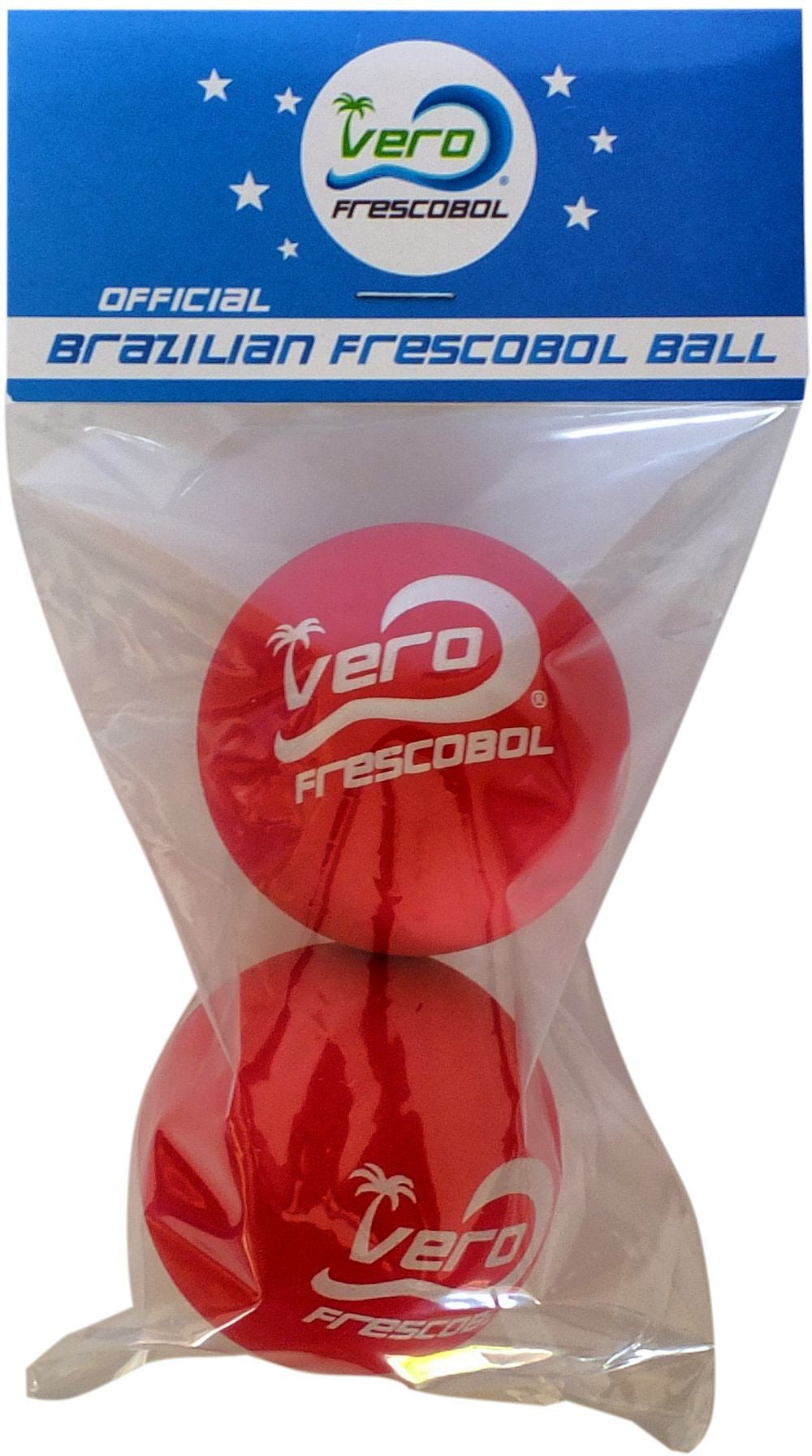 2 Official Red Frescobol Balls