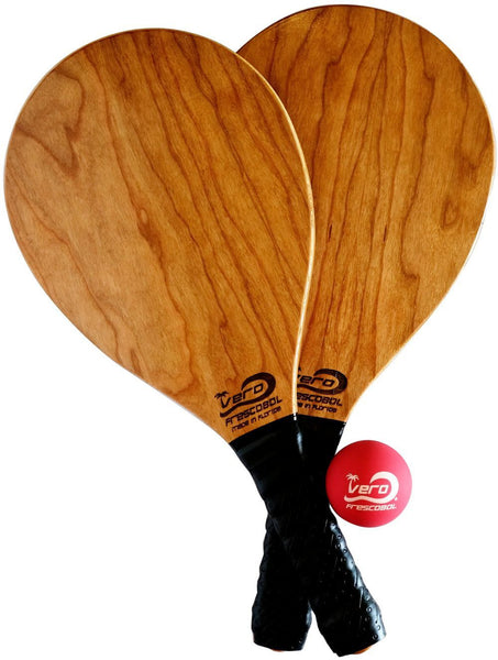 Frescobol Cherry Wood Beach Paddle Kit