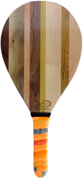 Frescobol Solid Walnut, Poplar, Maple, Hickory, Cherry Wood Beach Paddle, Single