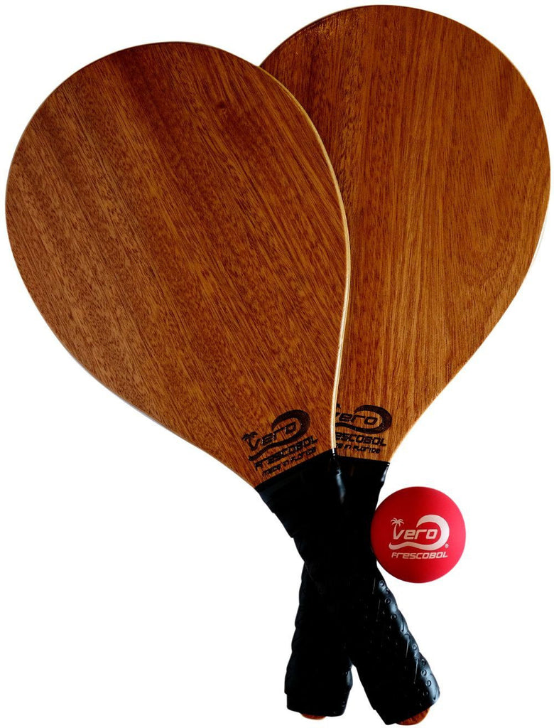 Mahogany Wood Frescobol Beach Paddle Kit
