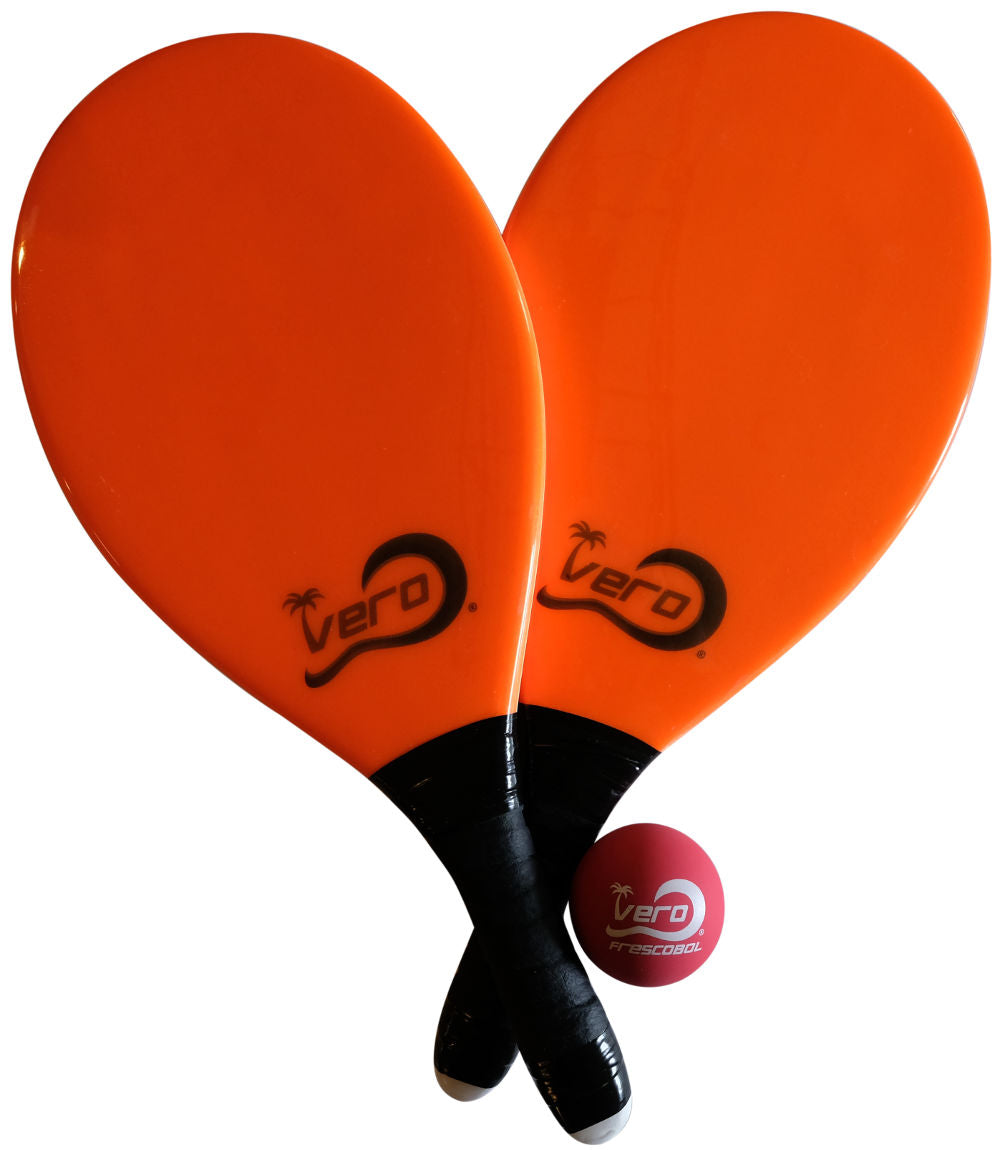 Frescobol Laranja Florida Beach Paddle Kit