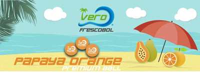 4 Official Papaya Orange Frescobol Balls