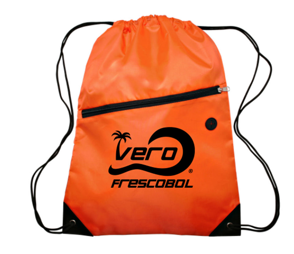 Frescobol Orange Drawstring Beach Bag
