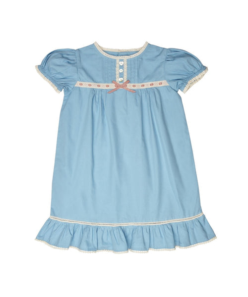 Christmas pajamas for the Christmas Eve box: an Atticus and Gilda short-sleeved children's nightie