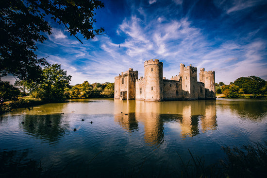 Bodiam Castle - one of the fantastic places to visit on the doorstep at The Original Hut Company (photo: The Original Hut Company)