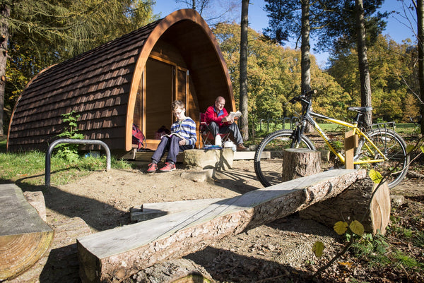 One of the camping pods at North Lees campsite
