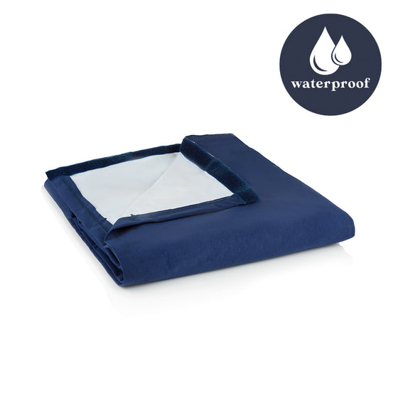 Waterproof Fitted Sheet (Navy or Grey)