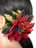 Red lace Hair Pin Brooch african print