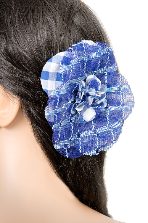 Blue Hair Pin Brooch