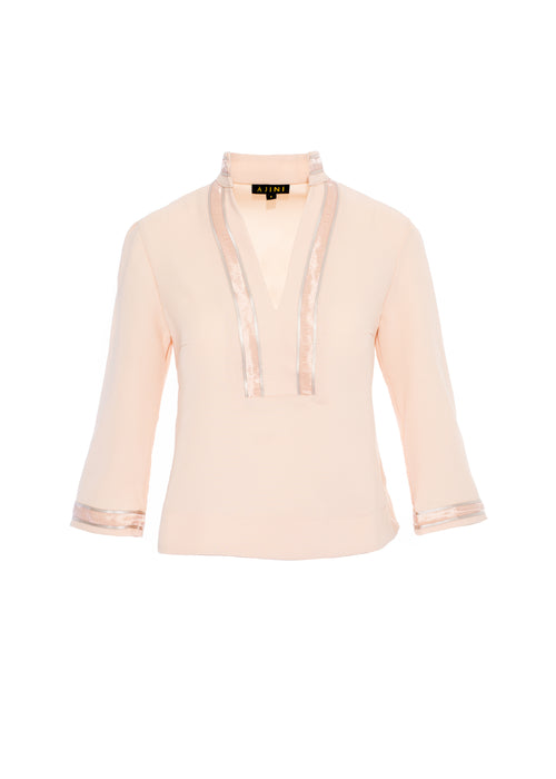 Blush Tunic with Trim