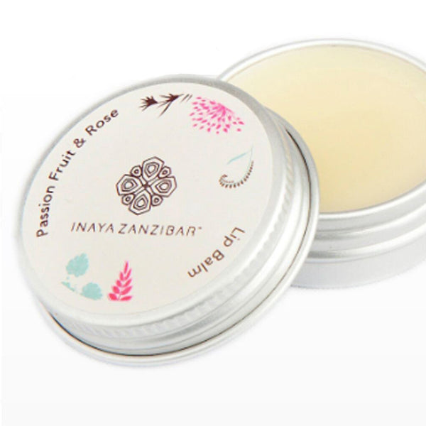 Inaya Zanzibar Passion Fruit And Rose Lip Balm
