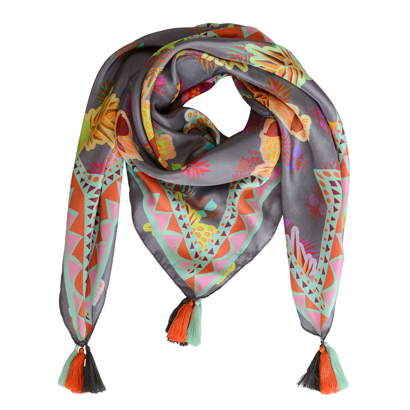 SBG COLLECTION Scarf TDM Silk Grey
