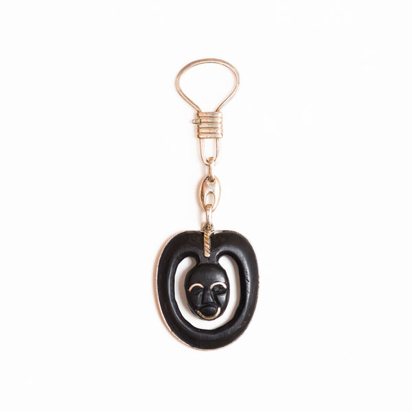 SBG Iniva  Jewelry Silver and Ebony Key Chain Mask