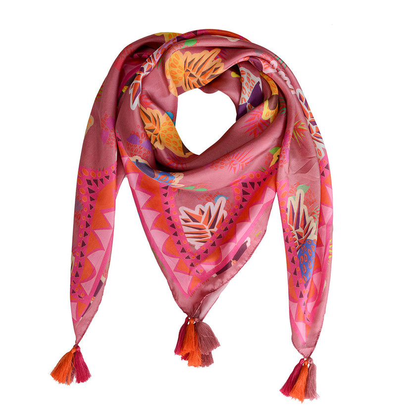 SBG COLLECTION Scarf TDM Silk Pink