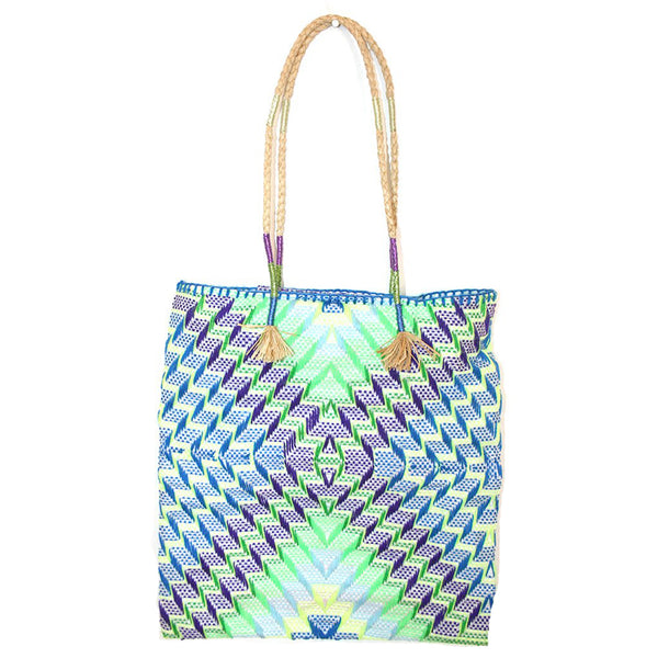 Enshallah Shopping Bag Blue Yellow Green