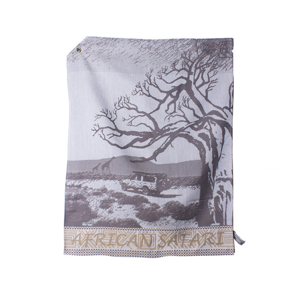 African Jacquard Tea Towel African Safari Brown