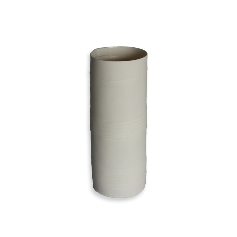 Lisa Firer Vase White Pleated Cylender Large - 10