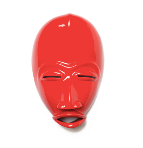 Nassara Design African Mask Danny Resin Red