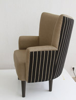 Nassara Design Armchair DG-Faso Danfani in the Back Downgraded Brown Black