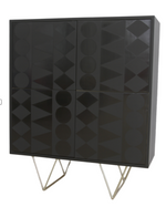 Nassara Design Cabinet Buffet Downgraded Wood Black Gold