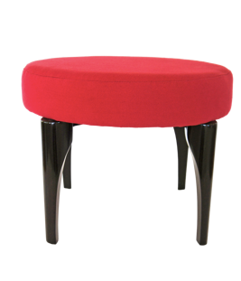 Nassara Design Stool Spider Fabric Red Downgraded Cotton Wood red