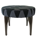 Nassara Design Stool Spider Fabric Black Downgraded Cotton Wood Black