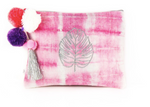 Nassara Design Clutch Tie & Dye Cotton Pink Leave