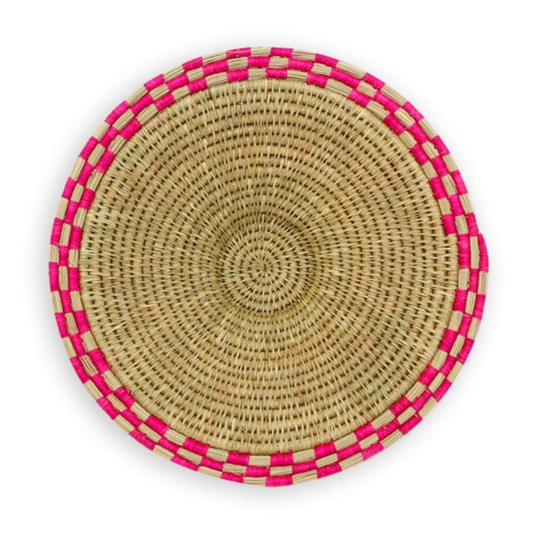 Gone Rural Block Waves Basket Pink