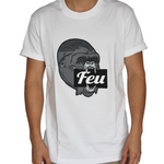 FEU Men White T-Shirt Gorilla Grey