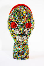 African Beaded Head from Cameroon