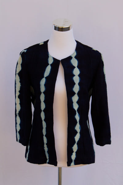 SBG COLLECTION Jacket Byboho Blue Indigo with stripe