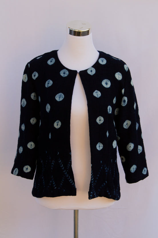 SBG COLLECTION Jacket Byboho Blue Indigo with circles